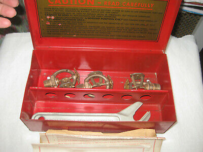 Antique Vintage RELIABLE AUTOMATIC Fire Sprinkler Red Steel Box Mt Vernon NY