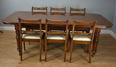 Victorian Style Mahogany Dining Table and Six Chairs