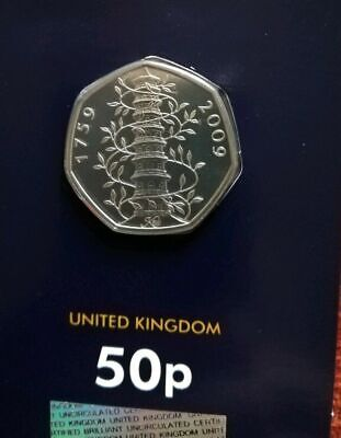 Kew Gardens 2019 50p COIN GENUINE SEALED IN PACK CELEBRATING 50 Years of the 50p