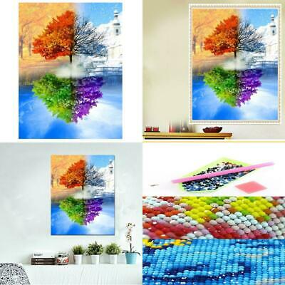 AiEllen DIY Diamond Painting by Numbered kit, Full-drilled Four Season Tree...