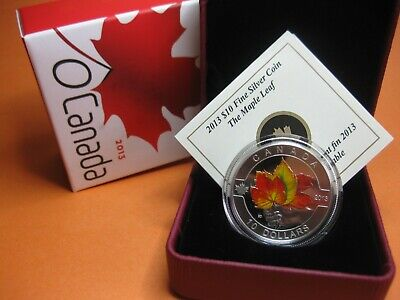 2013 $10 Fine Silver Coin - The Maple Leaf (#11 O'Canada Series)