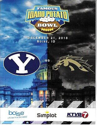 BYU Cougars vs Western Michigan IDAHO POTATO BOWL Official Game Program - MINT