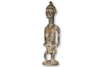 """Intriguing Hand Carved African Statue 31"""" - Nigeria - African Art"""