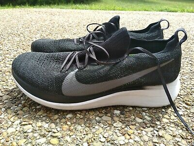 sale retailer 0b545 651b3 Men Nike Zoom Fly Flyknit Running Shoes Black Gunsmoke size 13