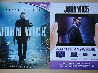 John Wick Chapter 1 and 2 Download Code for Flixster Video Keanu Reeves