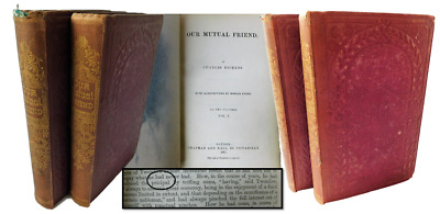 Charles Dickens 1865 1st edition/1st State, Our Mutual Friend In Original Cloth