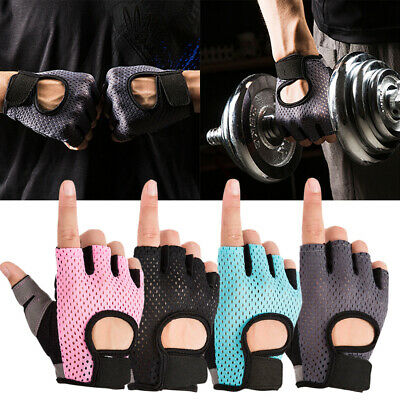 Fingerless Gym Fitness Gloves Dumbbell Weight Lifting Breathable Sports Gloves