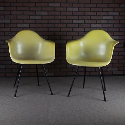 Eames 2nd Edition Fiberglass Shell Chairs Manufactured by Zenith Herman Miller
