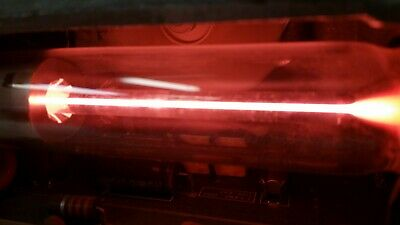 20mW Helium Neon Tube Laser from counter scanner and rotating mirror  Very Cool!