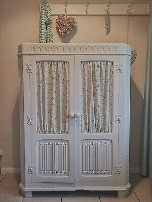 Country French Style Vintage Antique Cabinet Cupboard Furniture Shabby Chic