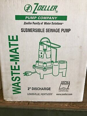ZOELLER N267-F, 267-002 Submersible Sewage Pump Dated 2015 In Box