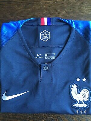 eacf9b0e8 FRANCE TWO 2 Stars Soccer Football Team World Champions 2018 Jersey ...