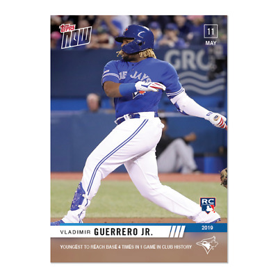 2019 Topps Now #216 Vladimir Guerrero Jr. Youngest To Reach Base 4 Times