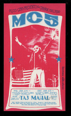 MC5 Grande Ballroom Detroit  Genuine Vintage Handbills Mint Condition