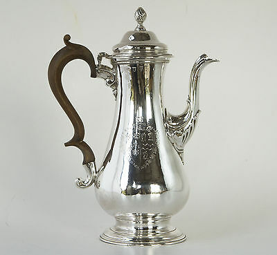 A Very Fine Georgian Silver Coffee Pot London 1763, by Whipham & Wright