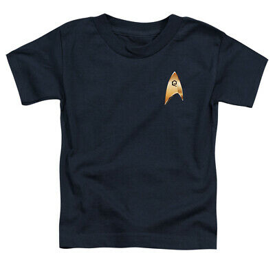 Star Trek Toddler T-Shirt Discovery Operations Badge Navy Tee