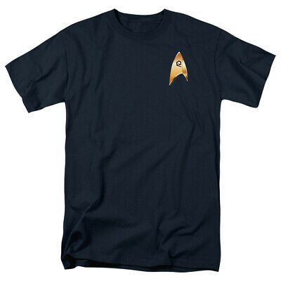 Star Trek T-Shirt Discovery Operations Badge Navy Tee