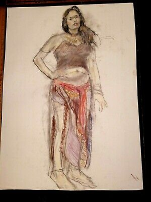 Contemporary Original ART Drawing Double Sided by PAUL WAGENER (American 1918)