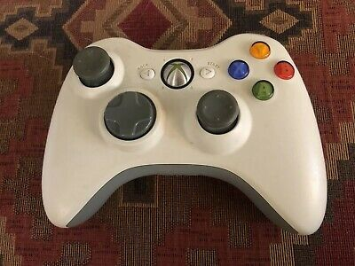 Official Microsoft Xbox 360 Wireless Controller Control Pad White Tested Working