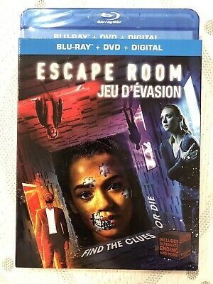Escape Room 2019 Blu Ray + DVD w Slip Cover Canada Bilingual LOOK