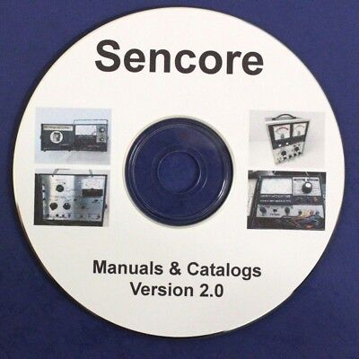 40 Sencore Manuals, 6 Catalogs pdf on CD SG165, SG80, PA81, CB-41, CB-42, TF-17