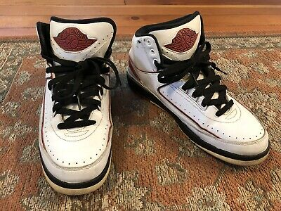 meet 0f09c 52c57 2010 Nike Air Jordan II 2 Retro QF WHITE BLACK VARSITY RED 395709-101 Size