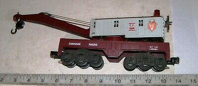 LIONEL 6508 CANADIAN PACIFIC BUCYRUS ERIE 6-Wheel Trucks Crane Car O/O-27 Gauge