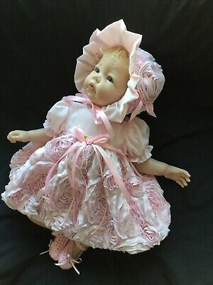 "Reborn Doll Dress Set. Oooak.pink Roses. 19-21""."