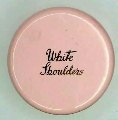 Vintage Evyan White Shoulders Perfumed Dusting Body Powder Pink Full with Puff