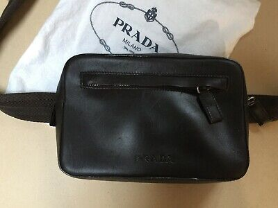 e5493f060709 AUTHENTIC PRADA FANNY Pack, Dark Brown leather - $325.00 | PicClick