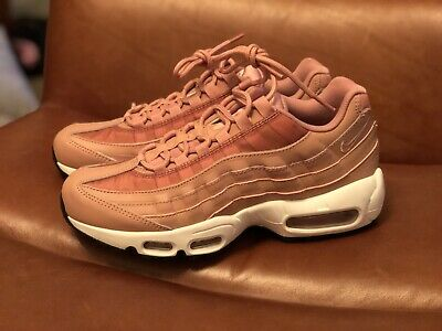 9fcd5a43f2 Nike Women's Air Max 95 Running Shoes Rust Pink/Beige Black 307960-606 Size
