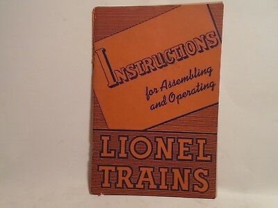 Original 1940 Instructions For Assembling And Operating Lionel Trains 40 Pages