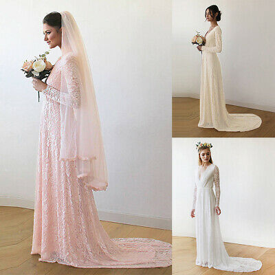 6357f579de1 Pregnant Women Lace Maxi Dress Maternity Trailing Gown Photography Wedding  Party