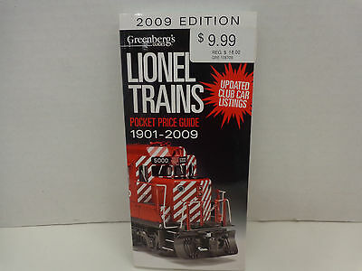 2009 Greenberg's Pocket Guide to Lionel Trains New in Mint Condition