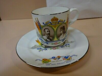 King George & Queen Mary.Silver Jubilee(1910-1935) cup and plate from 1935.