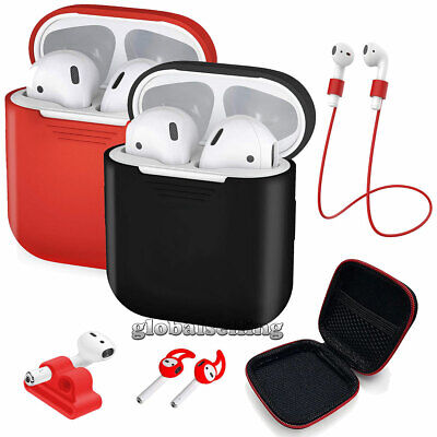AirPods Silicone Case Cover for Apple Airpod Charging Case +Accessories [9 in 1]