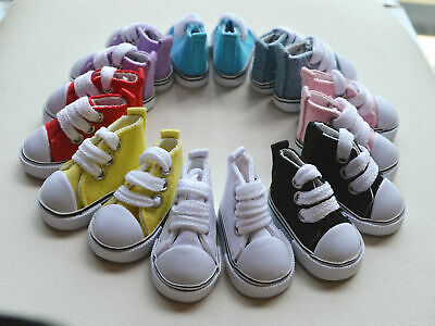 5cm Doll Accessories Kit Sneakers Shoes for BJD Dolls Fashion Mini Canvas Shoes