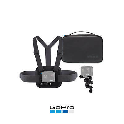 GoPro Official Genuine Sports Kit Chesty Handlebar Pole Mount Compact Case 3in1