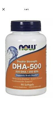 DHA-500 mg Double Strength 90 Gels Now Foods Brain Memory FAST FREE SHIPPING