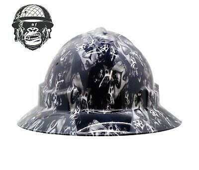 Custom Hydrographic Wide Brim Safety Hard Hats HIGH ROLLER WIDE