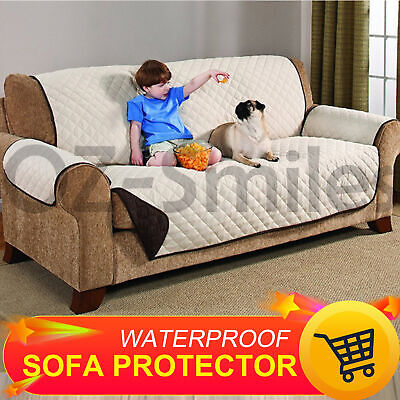 Sofa Couch Covers Slip Slipcover Pet Protector 1 2 3 Seater Lounge 3Color