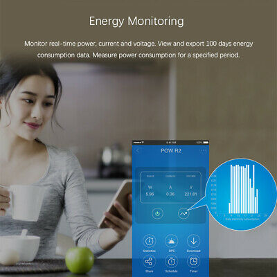 Sonoff POW R2 Timer Energy Power Monitoring Consumption Timing APP Ctrl CG5a