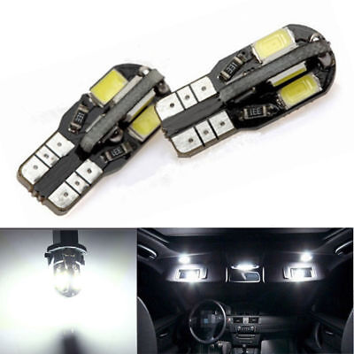 10x Canbus T10 194 168 W5W 5730 8 LED SMD White Car Side Wedge Light Lamp HOT