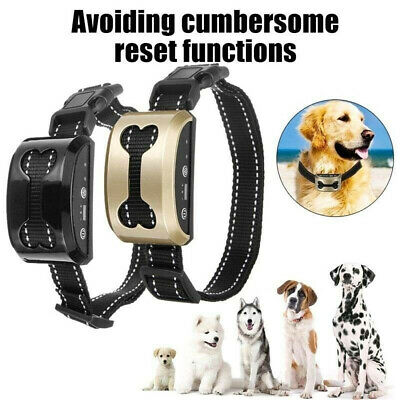 Anti Bark Dog Shock Collar Trainer Ultrasound No Barking-Rechargeable-Waterproof