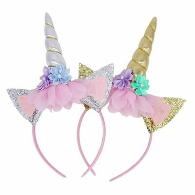 Unicorn Horn Party Kid Baby Hair Headband Cosplay Decor Hair Hoop LD