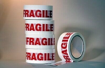 36 rolls strong FRAGILE sealing STIKKY TAPE 48mm x 66m NEXT DAY DELIVERY