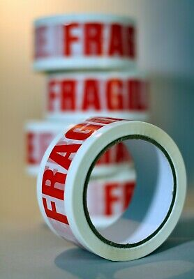 24 rolls of  FRAGILE or FRAGILE LOW NOISE printed  tape 48mm x 66m add DISPENSER