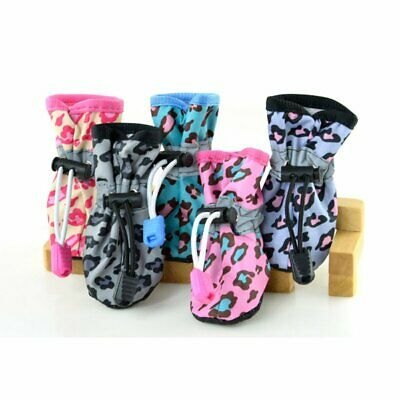 4Pcs Pet Dog Cat Rain Protective Boots Puppy Waterproof Anti-Slip Shoes Booties-