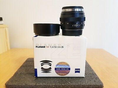Carl Zeiss Planar 50mm f1.4 ZE T* Lens for Canon <<MINT CONDITION>>