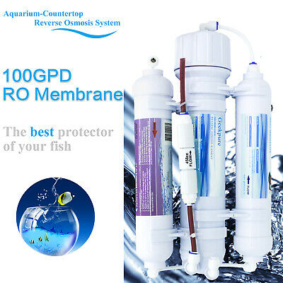 3-Stage Portable Aquarium Countertop Reverse Osmosis Water Filter System-100GPD